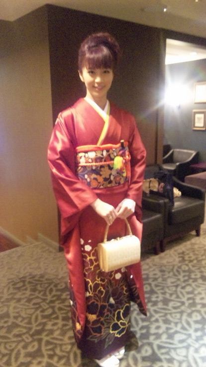 安田美沙子さんの着物コーディネート