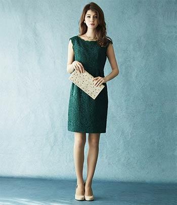 結婚式はグリーンのドレスでワンランク上のオシャレを♪