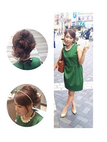 グリーンのドレスの差し色コーディネート参考画像3