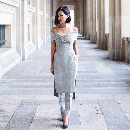 Nicole Warne ニコール・ウォーンのドレススタイル5