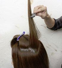 逆毛の正しいやり方STEP2の補足画像