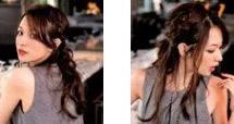 自分で簡単にできる髪型 ロングヘアのハーフアップ編み込みとまとめ髪アレンジ5-1-2