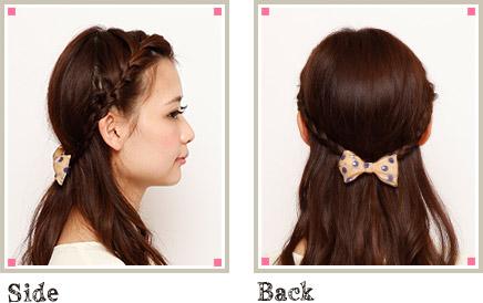 自分で簡単にできる髪型 ロングヘアのハーフアップ編み込みとまとめ髪アレンジ5-3-2