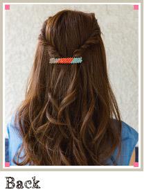 自分で簡単にできる髪型 ロングヘアのハーフアップねじりアレンジ2-4-2
