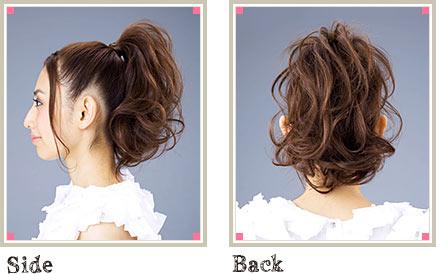自分でできる髪型 ロングヘアのポニーテールアップスタイル3-6-2