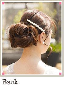 自分でできる髪型 ロングヘアのクルクルとまとめてアップスタイル4-1-2