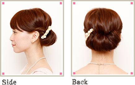 自分でできる髪型 ロングヘアのねじってまとめてアップスタイル5-1-2