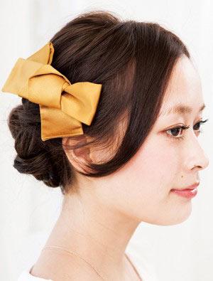 自分でできる髪型 ロングヘアの編み込みアップスタイル1-5-2