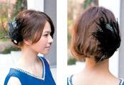 自分でできる髪型 ミディアムヘアねじるハーフアップスタイル2-10-1