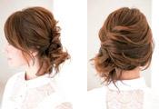 自分でできる髪型 ミディアムヘアねじるハーフアップスタイル3-2-1
