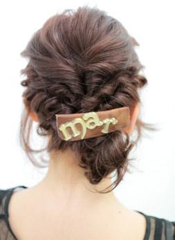 自分でできる髪型 ミディアムヘアねじるハーフアップスタイル3-11-2