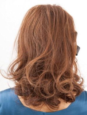 自分でできる髪型 ミディアムヘア編み込みハーフアップスタイル4-2-3