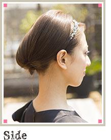 自分でできる髪型 ミディアムヘアクラシカルアップスタイル5-1-2