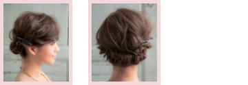自分でできる髪型 ミディアムヘアねじるアップスタイル4-2