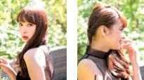 自分でできる髪型 セミロングヘアのねじってまとめるハーフアップスタイル2-5-2