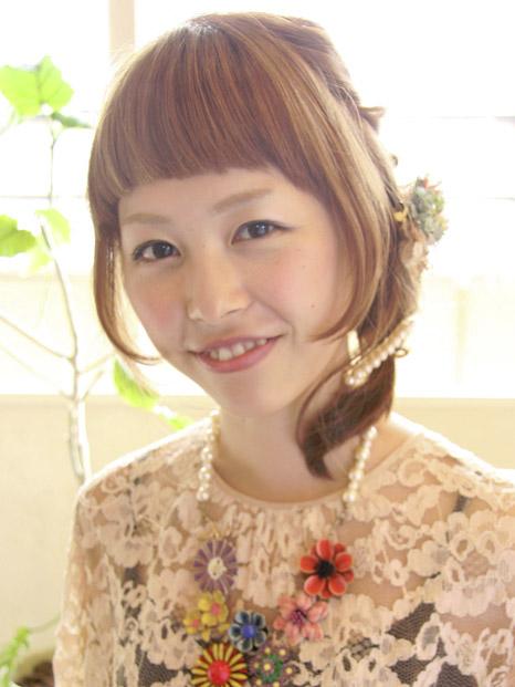 最新のヘアスタイル 結婚式髪型ハーフアップ 自分 : 結婚式・二次会の自分で簡単に ...