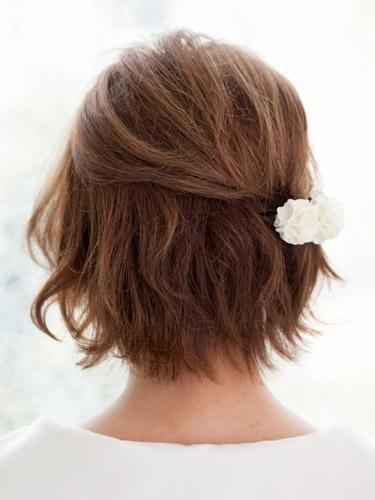 自分でできる髪型 ショート・ボブヘア編み込みハーフアップアレンジ2-4-3