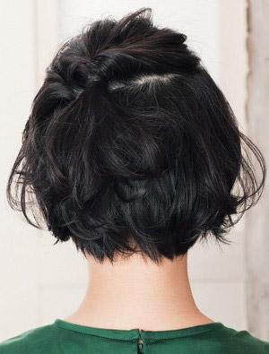 自分でできる髪型 ショート・ボブヘアねじるハーフアップアレンジ1-3-3