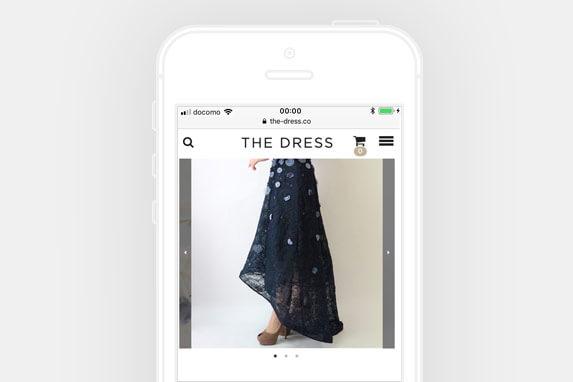 レンタルドレス THE DRESS(ザ ドレス)のサイトイメージ