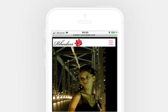 原宿エリアのレンタルドレスRhodon(ロドン)のサイトイメージ