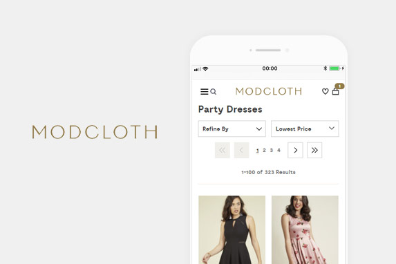 ModCloth(モドクロス)のサイトイメージ