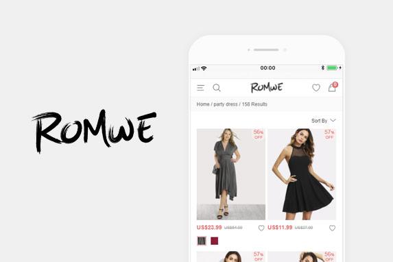 ROMWE(ロムウェ)のサイトイメージ