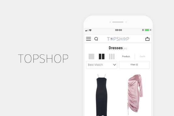 TOPSHOP(トップショップ)のサイトイメージ